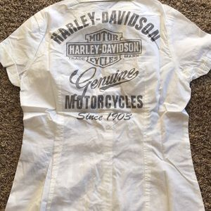 New women's Harley Davidson button up size XS